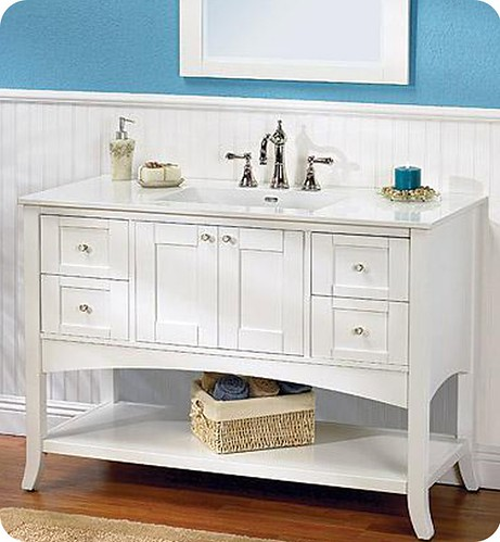 Fabulous This white Shaker style bathroom vanity would be pretty in many settings Click here for more details