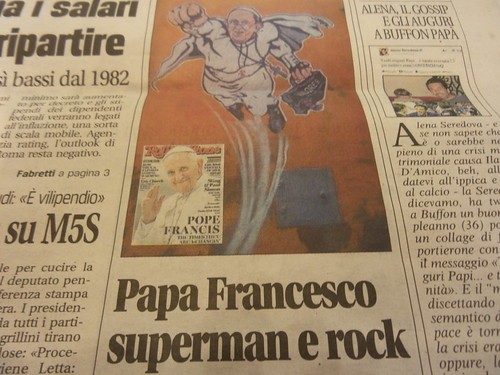 #PapaFrancesco #Superman e #Rock by Ylbert Durishti