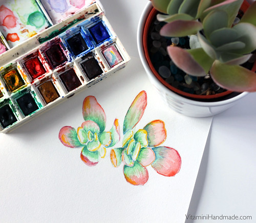 Succulent Watercolors