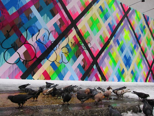 Maya Hayuk does the Bowery Wall: Pigeons