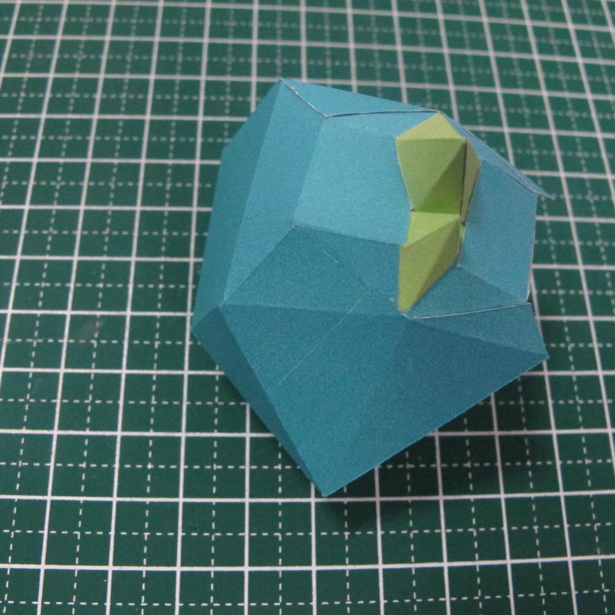 วิธีทำของเล่นโมเดลกระดาษรูปนก (Bird Paper craft ) 014