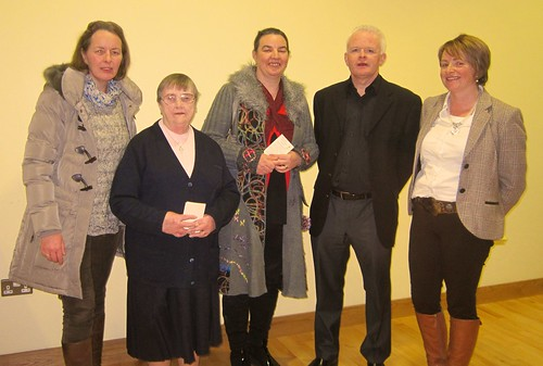 Laserian Burke SSL (2nd left) with members of Monaghan&Rackwallace Bereavement Grp