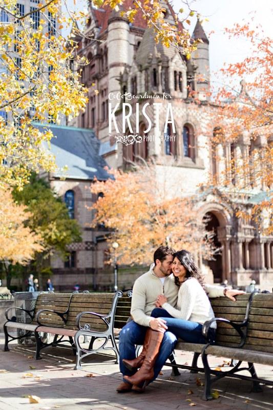Back Bay Boston Engagement Session
