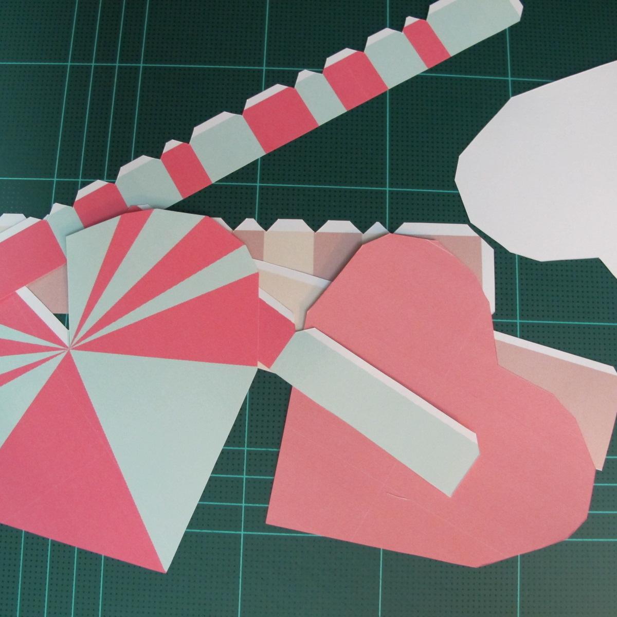 วิธีทำโมเดลกระดาษเป็นกล่องของขวัญรูปหัวใจ (Heart Box Papercraft Model) 002