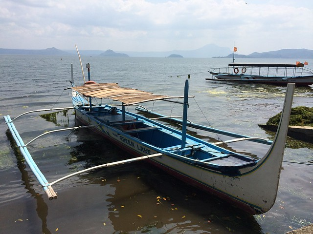 Boats on Taal Lake