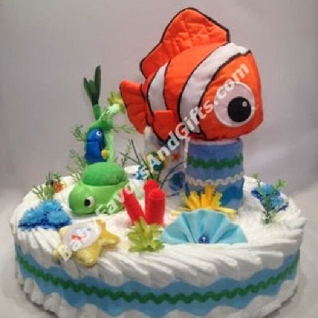 finding nemo diaper cake unique baby shower gift ideas babyshower