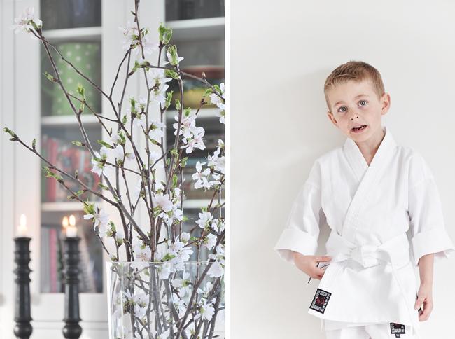 vårblommor och karate