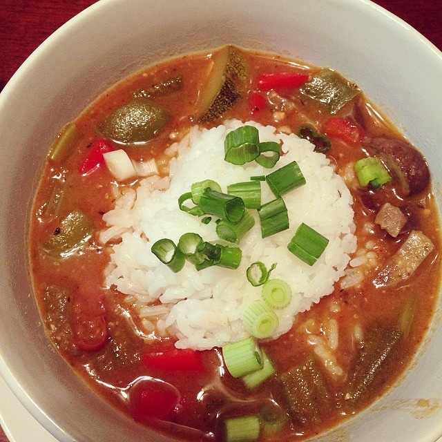 Someone* made gumbo!