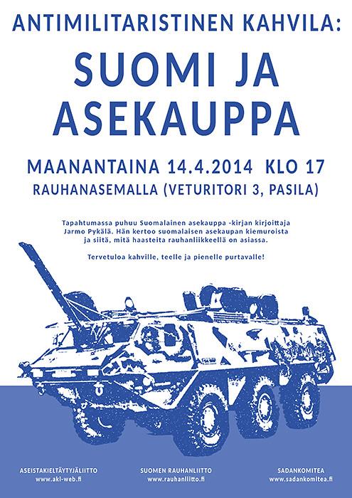 Antimilitaristinen kahvila 14.04.2014