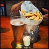 Beer and chips #nottemplefood #wellearned #onourway