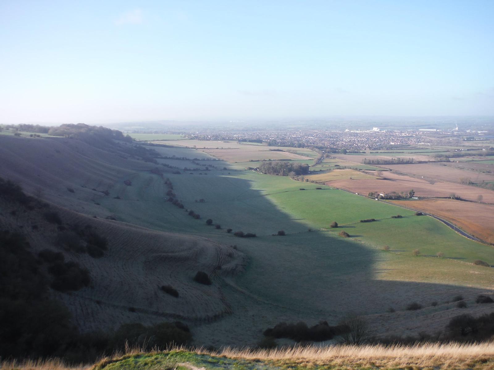 Westbury and Westbury Hill, from Bratton Castle/Camp SWC Walk 286 Westbury to Warminster (via Imber Range)