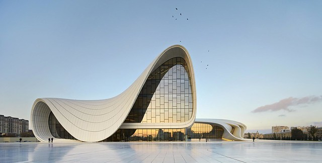 Heydar Aliyev Center in Azerbaijan, designed by Zaha Hadid [2000 x 1011]