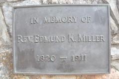 E K Miller plaque