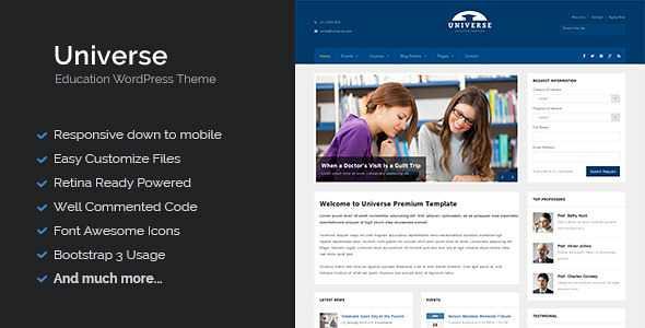 Universe WordPress Theme free download