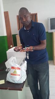 John Yembu in Haiti