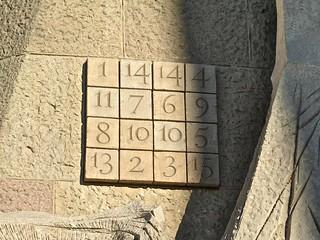 Quadrat màgic a la Sagrada Família