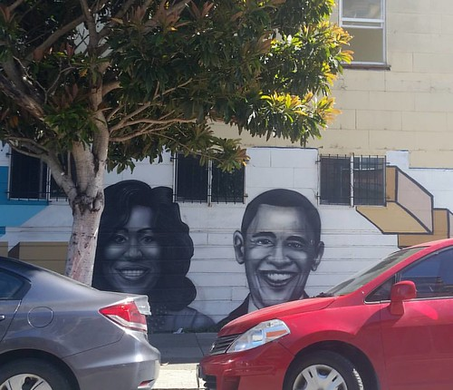 Michelle and Barack 0bama are inspirations to me each time I come to volunteer in Bayview. #obama #michelleobama #barackobama #streetart #graffiti #volunteer #bayview #sanfranciscodayssanfrancisconights #sf #sanfrancisco #jdc #justiceanddiversitycenter #c