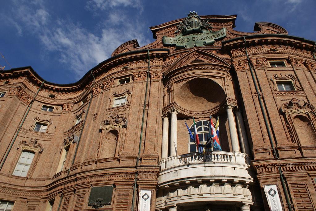 Palais Carignan et musée de la réunification italienne à Turin.