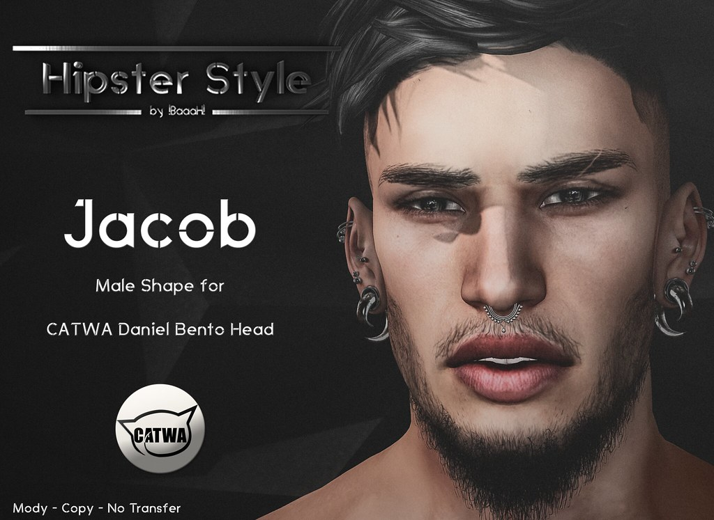 [Hipster Style] Jacob Male Shape for CATWA Daniel Bento Head - SecondLifeHub.com