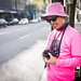 crazy pink hat man on the streets of vancouver ! PHOTO BY: Joe Biegel - untitled shoot-1008331 by roland