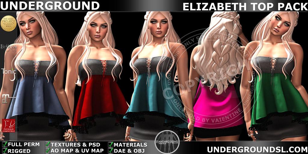 UG MESH ELIZABETH TOP PACK MP - SecondLifeHub.com