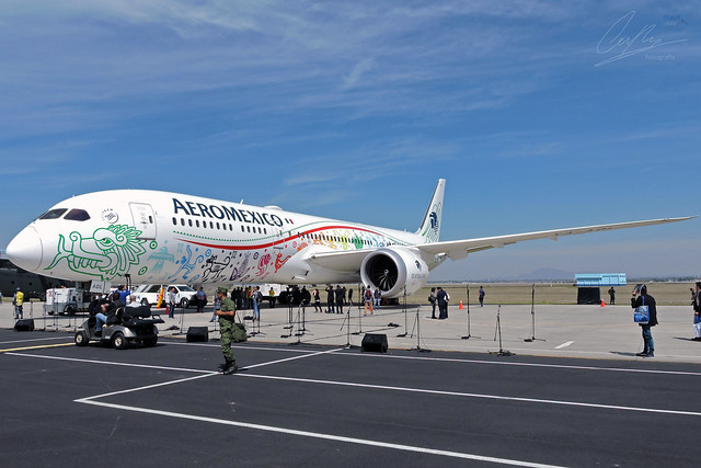 Boeing 787-9 Dreamliner Aeromexico, Nikon COOLPIX P600