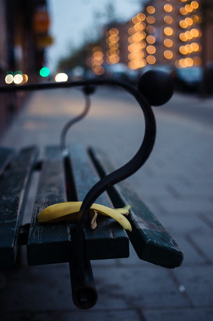 Bench and banana [explored]