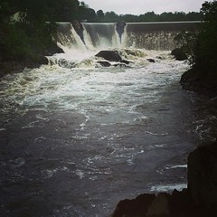 It's a rager. #dam #waterfall #mayshowers
