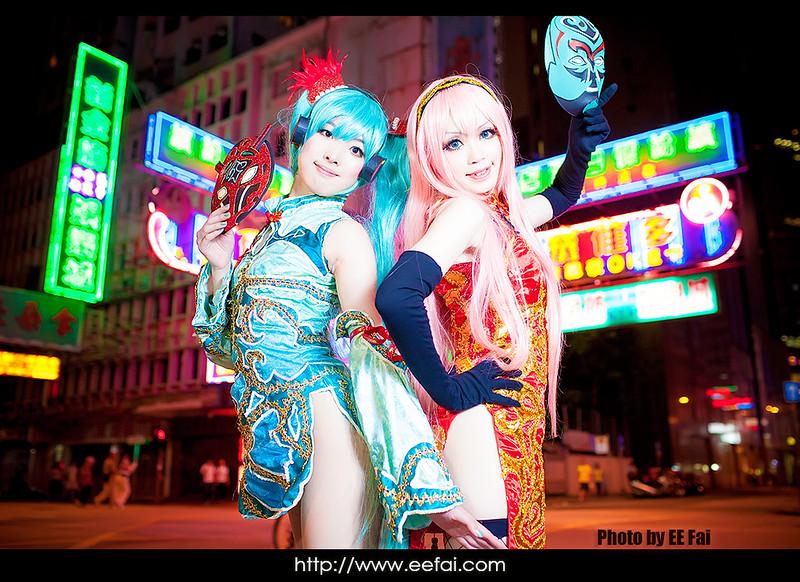 初音 未來 Hatsune Miku ミク 巡音 流歌 Megurine Luka ルカ World's End Dancehall ワールズエンド・ダンスホール 紅玉 翠玉 Cosplay