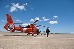 Coast Guard launches to medevac man with broken leg