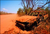 Car wreck on the Cape Leveque Road