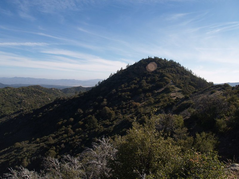 Looking back south at Lion Peak (6868 feet elevation)