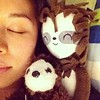Sleeping with sloths. #sloths #handmade by @mochistudios #aphotoaday #10of365 #itsjoulife