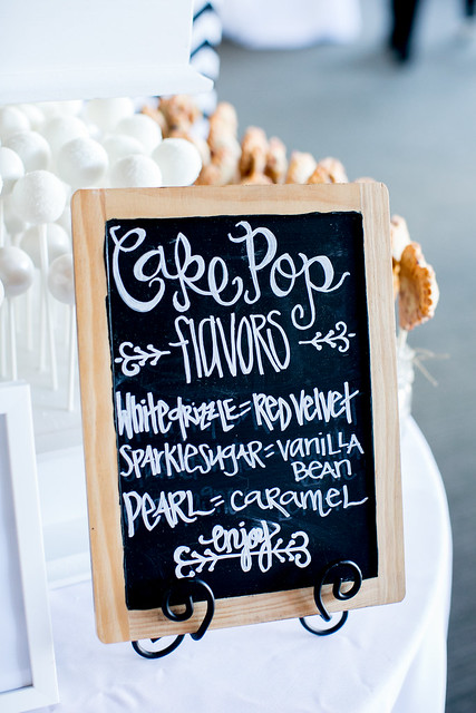 Custom chalkboard flavor signs to entice your tastebuds!
