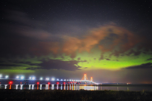 Aurora over Mackinac