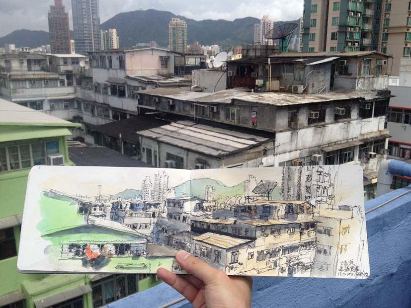Sketching Kowloon City