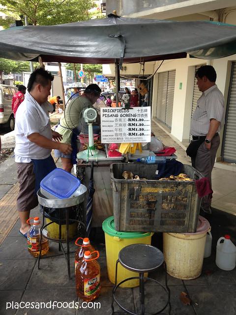 chiam pisang goreng stall
