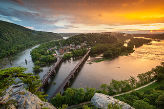 Historic Harpers Ferry Ablaze in Warning