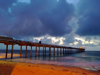 Scripps Pier after sun down