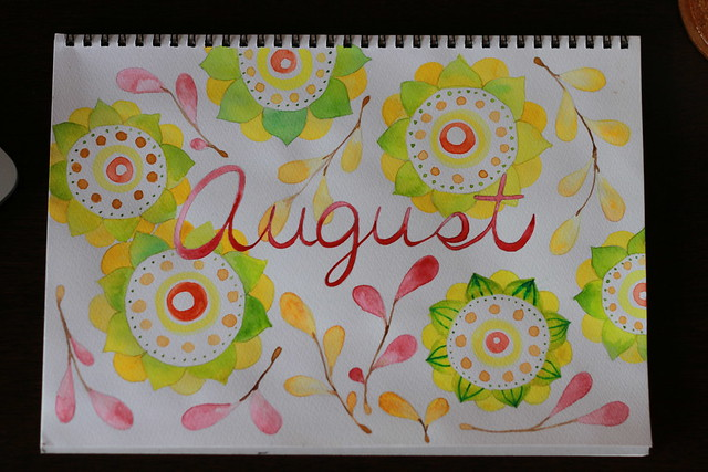 """august"" watercolor"