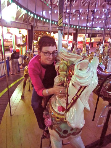 Mod Betty on the Carousel Rye Playland Rye NY