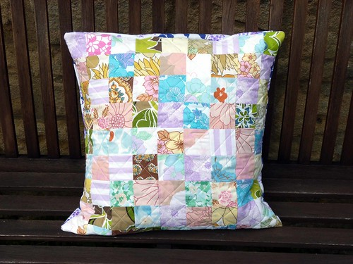 Vintage sheet cushion
