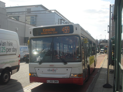 Abellio Surrey 8001 on Route 459, Kingston Cromwell Road Bus Station