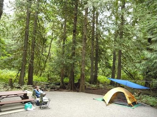 Nairn Falls Provincial Park campsite, BC