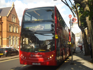 Stagecoach 12128 on Route 205X, Marylebone