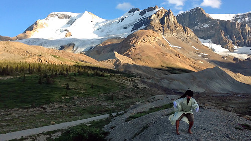 Butoh Improvisation in Front of Athabasca Glacier (From my Butoh Vlog. Jasper, Canada. Gustavo Thomas © 2013)