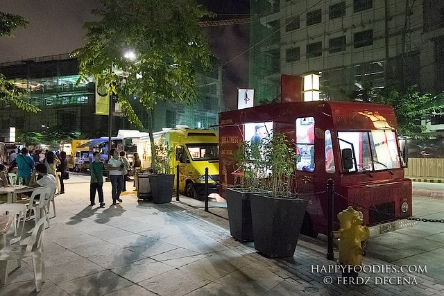 Food trucks lined up