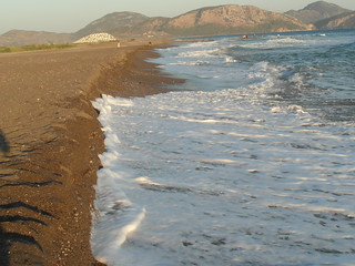 Изображение на Sarıgerme Plajı. holiday beach turkey village sarigerme 2013
