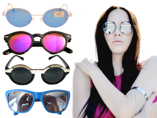 5 refelective lens eco-friendly vintage sunglasses
