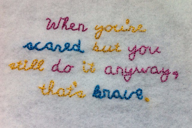 Coraline Quote Embroidery